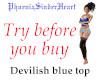 Devilish blue top
