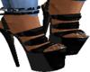 Black Open Toe Stiletto'