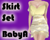 ~BA Gold Skirt Set