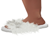 Alma-Fluffy Whte Slipper
