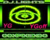 Yellow & Green dj light