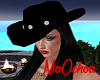 Black Cowgirl Hat-Tejana