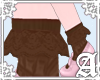 Ankle Sock Frill Brown~