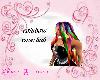 Rainbow rave hair