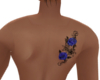 Blue Rose Back Tattoo