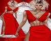 Red Ring Slit Dress