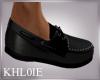 K  black boat shoe