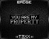 !TX - My Property Badge