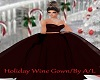 A/L   Xmas Wine Gown