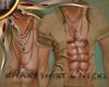 (II) Khaki Shirt & Neckl