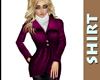 Magenta Dress Coat