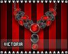 Mua Necklace [Red Black]
