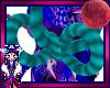 teal kimono rope bow