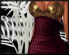 Wine & Gold Gala Dress