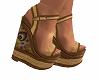 Boho Wedged Heels