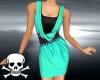 !Cowl Dress ~ Aqua
