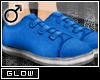 #Velcro Flats-Blue[M]#