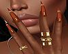 !P! Rings Orange Nails
