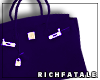 RF | Leather Tote -Royal