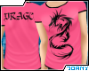 [Ty] Pink Dragon Tee