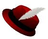 CHRISTMAS FEDORA RED