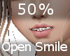 50% Open Mouth Smile F A