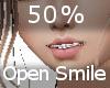 50% Open Smile F