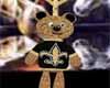 *R* Saints Bear Necklace