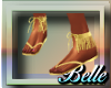{BB}Frill gold sandal