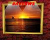 sunset gold frame