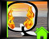! Animated Fire Letter Q