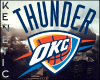 K. 3D OKC Thunder Sign