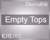 K derv empty