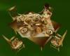Gold Rose Dining Table