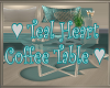 Teal Hearts Coffee Table