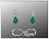 Tear Earrings Green