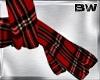 Black Red Plaid Scarf  G