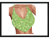 {G} Lime Glitter Top