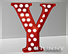 H. Marquee Letter Red Y