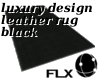 Leather Carpet Black