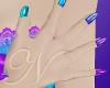 ~N~ PurpleTeal Nails
