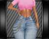 [L] PINK TEE/JEANS