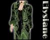 {E} Green Brocade Robe F