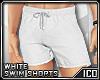 ICO Swim Shorts White