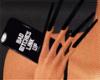 All black long nails