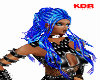 {KDR} blue rave hair