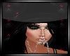 Wren Hat w/hair blk