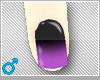 ♡purple/black nails♡