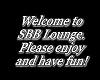 SBB Lounge Sign