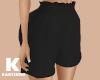 Black High Waist Short
